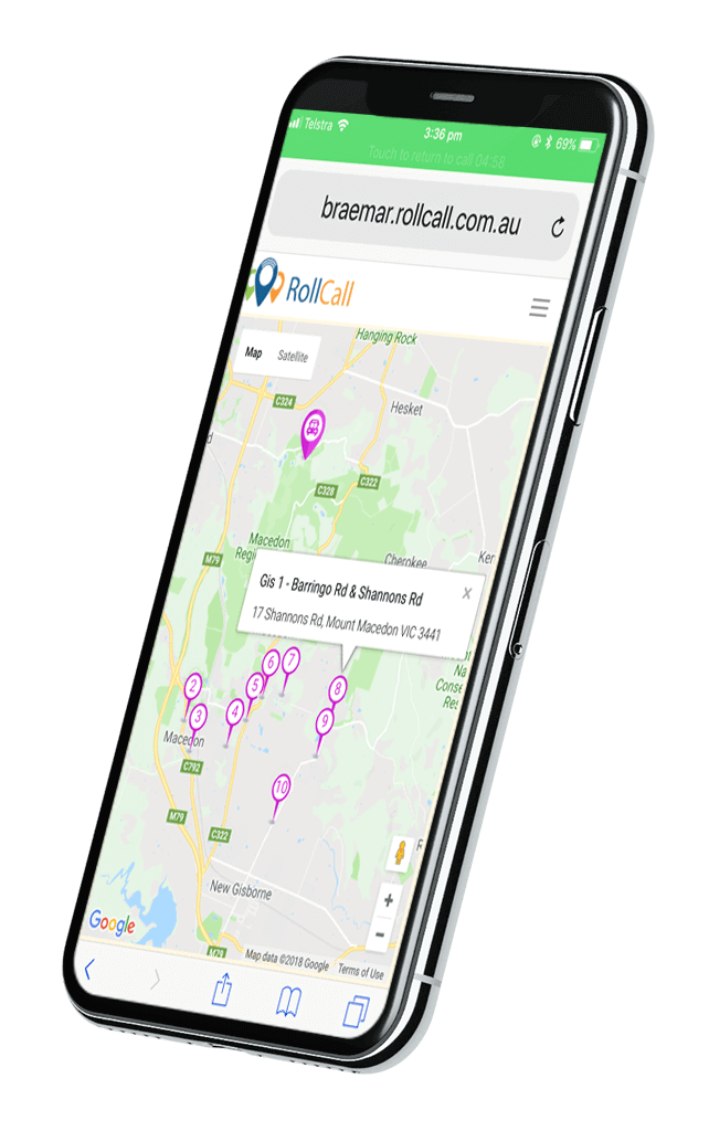 App for monitoring kids on map